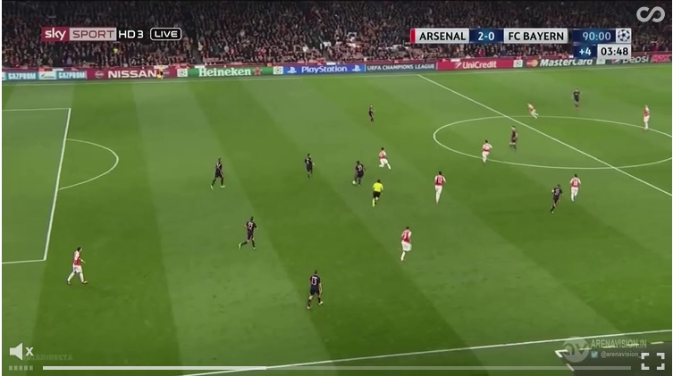 Bellerin interception
