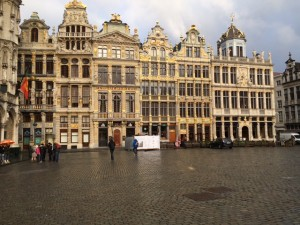 Touristy view of the Grand Place