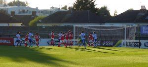 First half goalmouth action PL2 Reading v Arsenal